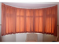 Pair of Curtains With Tiebacks - Professionally Made - 58in Drop X 132in Width