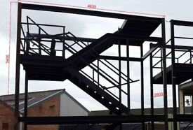 Modular Building Staircase With Mid Landing