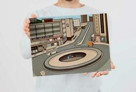 Hole in the Road - Limited Edition Sheffield Charity Print