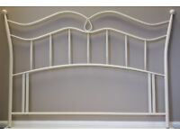 NEW 5ft King size white metal headboard bed head end. Ivory white.