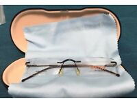 Rimless spectacle frame