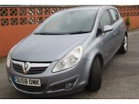 2008 Vauxhall Corsa 1.4 Petrol. VGC, full service history, new parts, lady owner