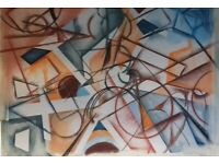 Abstract drawing geometric