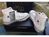 Converse baby pink high tops size 7 brand new