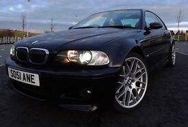 2002/52 BMW E46 M3 Manual Black Coupe