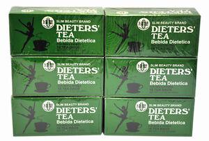6 BOXES OF Dieters' Tea Bebida Dietetica Slim Beauty Brand Dieters 108 Tea Bags