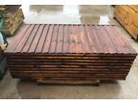 🐌 Straight Top Pressure Treated High Quality Brown Wooden Garden Fence Panels