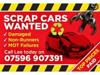Scrap Cars Wanted - Scrap Car Removal - Scrap Car Collection