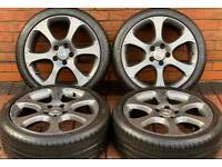 "Honda Civic 18"" Type R/Type S Genuine Alloy Wheels 5x114.3 FN2 Near New GoodYear Tyres"