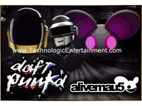 Unique Tribute DJ's available for parties, weddings and corporate events *Daft Punk* *Deadmau5*