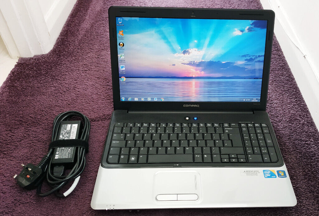 Compaq Laptop  2 5GHz CPU, 4GB ram, Solid State Drive  Windows 7  Wifi,  HDMI, Webcam, Word and Excel | in Poole, Dorset | Gumtree