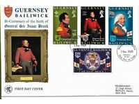 Nine First Day Covers from Guernsey dated from 1969 to 1978. All in excellent condition