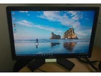 "Dell 17"" widescreen monitor LCD for PC / Laptop / CCTV SECURITY CAMERA - GREAT CONDITION - DELIVERY"