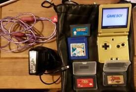 Zelda Limited edition Nintendo Game Boy Advance GOLD