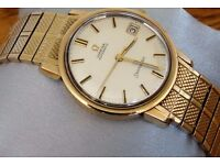1966 VINTAGE SOLID GOLD OMEGA SEAMASTER AUTOMATIC CAL.562 SWISS MADE MEN'S WATCH