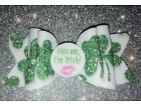 St Paddy's day bow clip