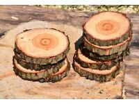 Logs slices for cake stands table decorations etc