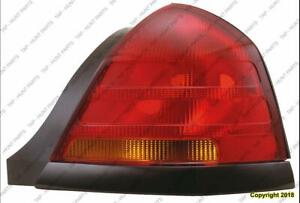 Tail Light Passenger Side (Black Moulding Sport-2 Bulb-Red) High Quality Ford Crown Victoria 2000-2005
