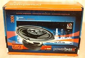 6x9 SPEAKERS - POWERBASS L-693 - NEW & UNUSED