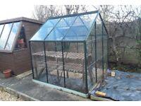 6x6 Powdercoated Greenhouse