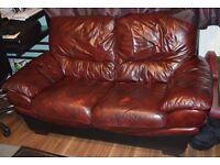 used premium leather sofa