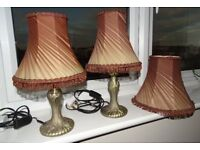 Two bedside lamps and main shade