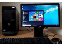 High Spec HP Quad Core i5-2400 PC setup,4GB DDR3 RAM,500GB,Wifi,win 10 64Bit Computer/desktop