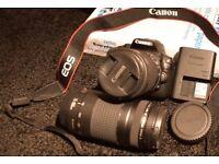 Cannon EOS 100D 2 x Lens 75-200mm / 18-55mm