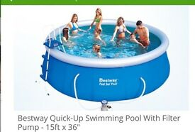 "Bestway 15ft by 36"" quick up swimming pool"