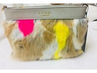 LYDC LONDON fur shoulder bag