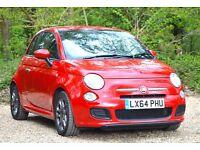 Fiat 500 1.2 S 3dr (start/stop) 2014 (64 reg), Hatchback 18,000 miles Manual 1242cc Petrol