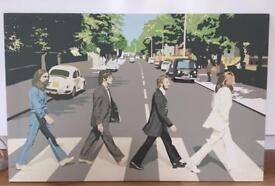 Large Beatles canvas