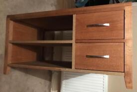 Wood TV cabinet with drawers
