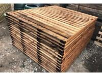 🏅Brown Straight Fence Panels / Tanalised Vertical Board