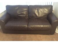 Fab two seater leather settee