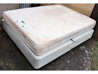 DOUBLE DIVAN BED WITH ORTHOPAEDIC MATTRESS - QUICK SALE £40 ONO