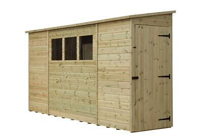 8X3 GARDEN SHED SHIPLAP PENT ROOF TANALISED 3 WINDOWS LOW SIDE PRESSURE TREATED, used for sale  Stourbridge