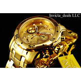 Invicta Men's 48mm PRO DIVER Scuba Chrono Champagne Dial Stainless Steel Watch
