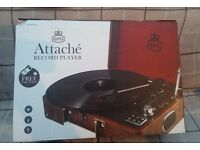 3-Speed Vinyl Record Player With USB, still boxed & unused