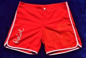 """Rip Curl 38 Ladies or Men's Red Swimming / Beach Board Shorts W32"""""""