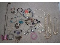 Collection of old costume jewellery 26 items with lots of life left.