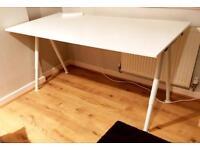 White Ikea Galant desk