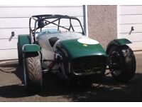 Caterham 7 race and track car, 250bhp Vauxhall X/E, dry sumped, fuel injected engine. 5 speed Quaife