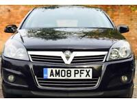 2008 (MAY08) VAUXHALL ASTRA 1.6 SXI - LOW MILES - LONG MOT - 5 DOORS - PETROL - MANUAL - BLACK