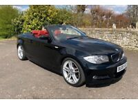 BMW 1 SERIES 118D M SPORT CONVERTIBLE COUPE , Red Leather Interior