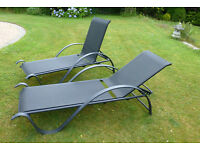 Sun loungers - pair - NOW SOLD