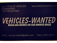 VEHICLES-WANTED scrap cars