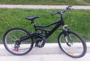 "Mountain Bike for Sale FULL SUSPENSION , 21 spd, 16,5-""FRAME,  24X195""-TIRES, RALEIGH"