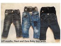 6-9 Months Baby Boy Zara and Next jeans bundle