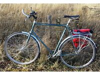 "STOLEN BIKE in Govanhill: Big 25"" Dawes Galaxy, pale blue/silver, dent on top tube, S-A 3-speed hub."